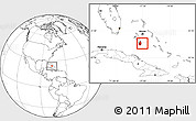Blank Location Map of South Andros