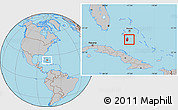 Gray Location Map of South Andros