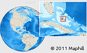 Shaded Relief Location Map of South Andros