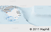 Gray Panoramic Map of South Andros