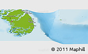 Physical Panoramic Map of South Andros