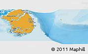 Political Panoramic Map of South Andros