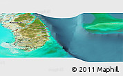 Satellite Panoramic Map of South Andros