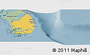 Savanna Style Panoramic Map of South Andros