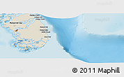 Shaded Relief Panoramic Map of South Andros