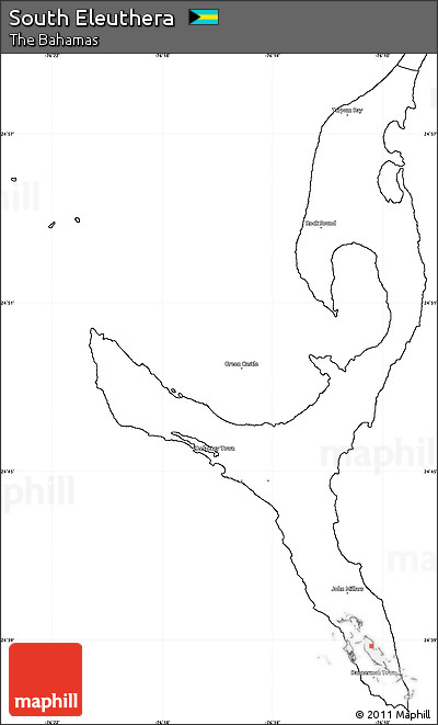Free Blank Simple Map of South Eleuthera