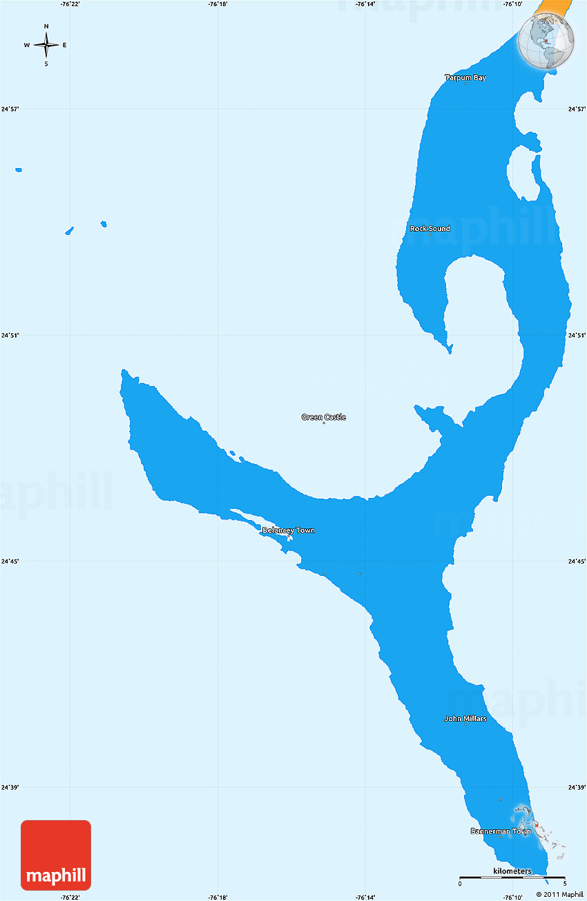 Political Simple Map of South Eleuthera