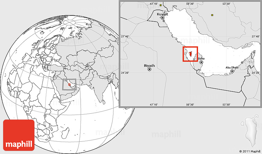 Blank location map of bahrain highlighted continent gumiabroncs Choice Image