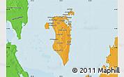 Political Shades Map of Bahrain