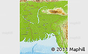 Physical 3D Map of Bangladesh