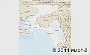 Classic Style Panoramic Map of Chittagong Div