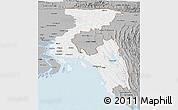 Gray Panoramic Map of Chittagong Div