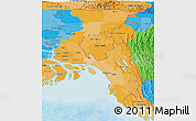 Political Shades Panoramic Map of Chittagong Div