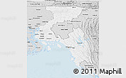 Silver Style Panoramic Map of Chittagong Div