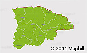 Physical 3D Map of Sylhet Zl, cropped outside
