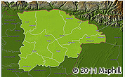 Physical 3D Map of Sylhet Zl, darken