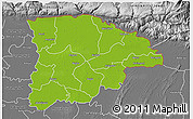 Physical 3D Map of Sylhet Zl, desaturated
