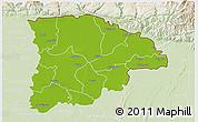 Physical 3D Map of Sylhet Zl, lighten