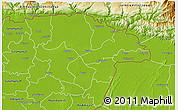 Physical 3D Map of Sylhet Zl