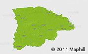 Physical 3D Map of Sylhet Zl, single color outside