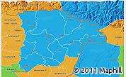 Political 3D Map of Sylhet Zl