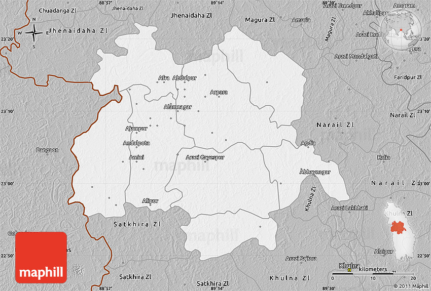 Gray Map of Jessore Zl