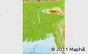 Physical Map of Bangladesh