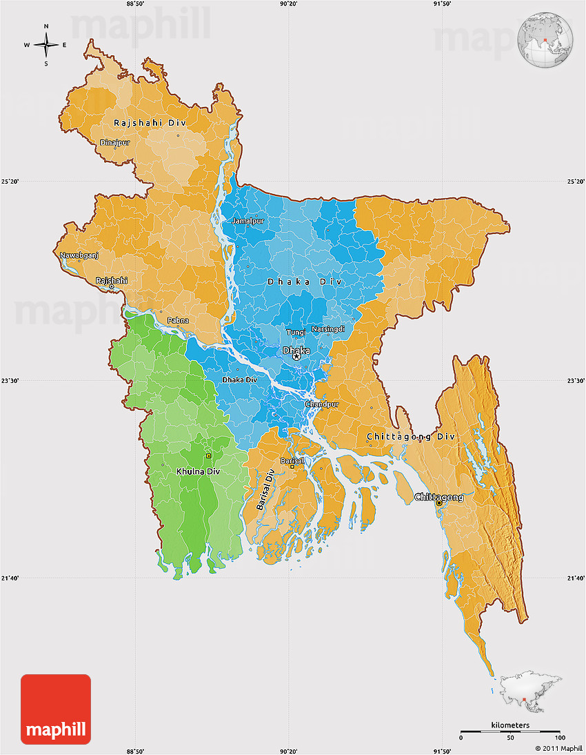 Political map of bangladesh cropped outside gumiabroncs Gallery