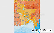 Political Shades Map of Bangladesh