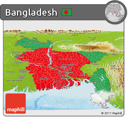 Bangladesh Flag Not Centered