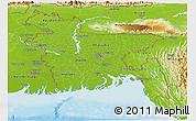 Physical Panoramic Map of Bangladesh