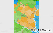 Political Shades 3D Map of Rajshahi Div