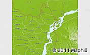 Physical 3D Map of Kurigram Zl