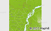 Physical Map of Kurigram Zl