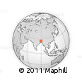 Outline Map of Kurigram Zl
