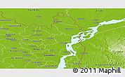 Physical Panoramic Map of Kurigram Zl