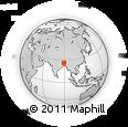 Outline Map of Lalmonirhat Zl