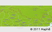 Physical Panoramic Map of Lalmonirhat Zl