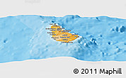 Political Shades Panoramic Map of Barbados