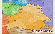 Political Shades 3D Map of Belarus