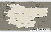 Shaded Relief Panoramic Map of Minsk, darken