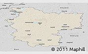 Shaded Relief Panoramic Map of Minsk, desaturated