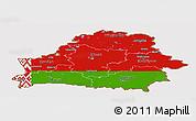 Flag Panoramic Map of Belarus