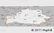 Gray Panoramic Map of Belarus