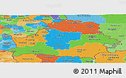 Political Panoramic Map of Belarus