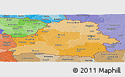 Political Shades Panoramic Map of Belarus