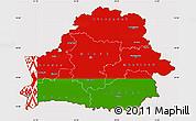 Flag Simple Map of Belarus