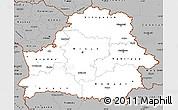 Gray Simple Map of Belarus
