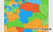 Political Simple Map of Belarus