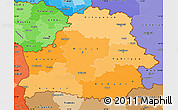 Political Shades Simple Map of Belarus